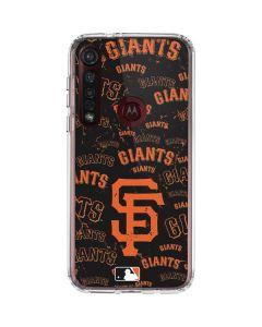 San Francisco Giants - Cap Logo Blast Moto G8 Plus Clear Case