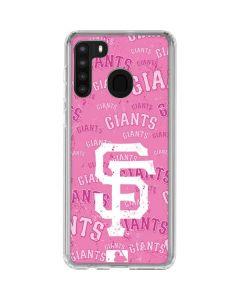 San Francisco Giants - Pink Cap Logo Blast Galaxy A21 Clear Case
