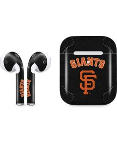 San Francisco Giants - Solid Distressed Apple AirPods 2 Skin