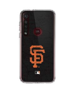 San Francisco Giants - Solid Distressed Moto G8 Plus Clear Case