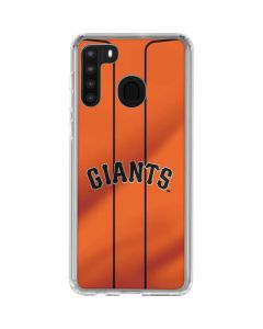 San Francisco Giants Alternate Home Jersey Galaxy A21 Clear Case