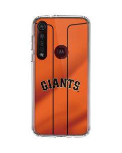 San Francisco Giants Alternate Home Jersey Moto G8 Plus Clear Case