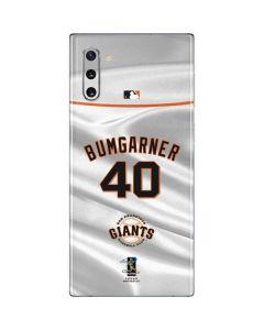 San Francisco Giants Bumgarner #40 Galaxy Note 10 Skin
