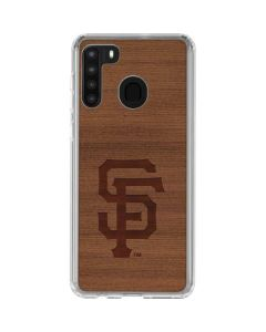 San Francisco Giants Engraved Galaxy A21 Clear Case