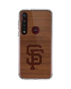 San Francisco Giants Engraved Moto G8 Plus Clear Case