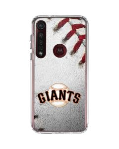 San Francisco Giants Game Ball Moto G8 Plus Clear Case