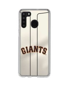 San Francisco Giants Home Jersey Galaxy A21 Clear Case