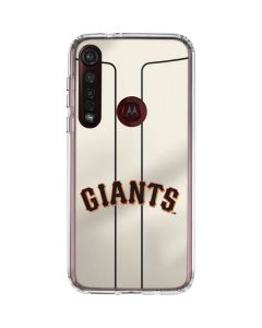San Francisco Giants Home Jersey Moto G8 Plus Clear Case