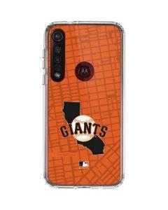 San Francisco Giants Home Turf Moto G8 Plus Clear Case