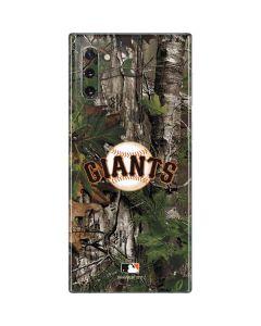 San Francisco Giants Realtree Xtra Green Camo Galaxy Note 10 Skin