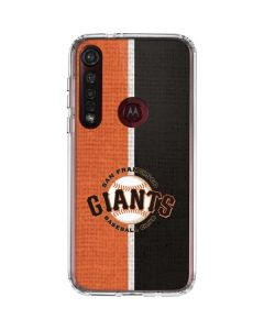 San Francisco Giants Split Moto G8 Plus Clear Case