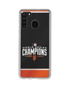 San Francisco Giants World Series 2014 Galaxy A21 Clear Case