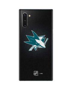 San Jose Sharks Black Background Galaxy Note 10 Skin