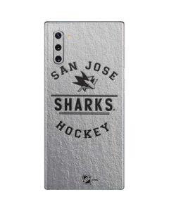 San Jose Sharks Black Text Galaxy Note 10 Skin