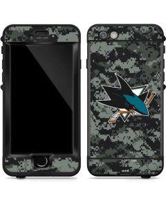 San Jose Sharks Camo LifeProof Nuud iPhone Skin