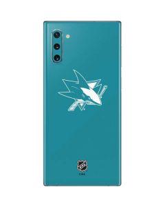 San Jose Sharks Color Pop Galaxy Note 10 Skin