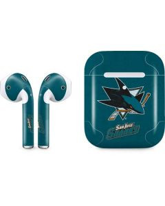 San Jose Sharks Distressed Apple AirPods 2 Skin