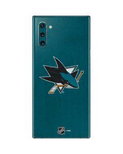 San Jose Sharks Distressed Galaxy Note 10 Skin