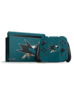 San Jose Sharks Distressed Nintendo Switch Bundle Skin