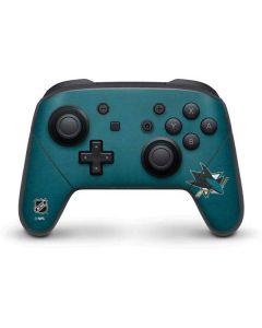 San Jose Sharks Distressed Nintendo Switch Pro Controller Skin