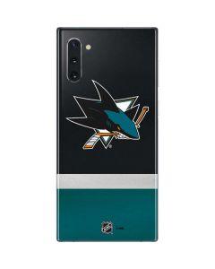 San Jose Sharks Jersey Galaxy Note 10 Skin