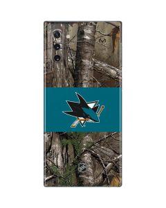 San Jose Sharks Realtree Xtra Camo Galaxy Note 10 Skin