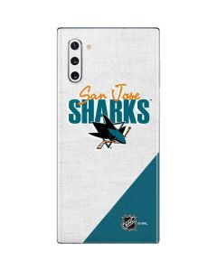 San Jose Sharks Script Galaxy Note 10 Skin