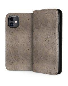Sandstone Concrete iPhone 11 Folio Case