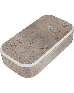 Sandstone Concrete UV Phone Sanitizer and Wireless Charger Skin