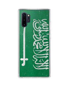 Saudi Arabia Flag Distressed Galaxy Note 10 Plus Clear Case