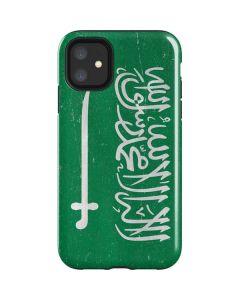 Saudi Arabia Flag Distressed iPhone 11 Impact Case