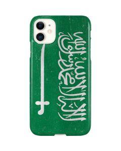 Saudi Arabia Flag Distressed iPhone 11 Lite Case