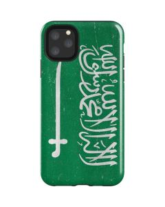 Saudi Arabia Flag Distressed iPhone 11 Pro Max Impact Case