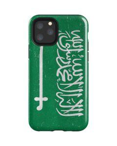 Saudi Arabia Flag Distressed iPhone 11 Pro Impact Case