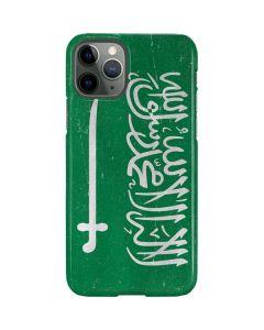 Saudi Arabia Flag Distressed iPhone 11 Pro Lite Case