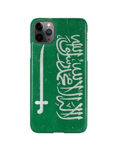 Saudi Arabia Flag Distressed iPhone 11 Pro Max Lite Case
