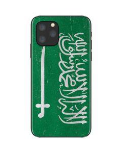 Saudi Arabia Flag Distressed iPhone 11 Pro Skin