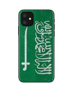 Saudi Arabia Flag Distressed iPhone 11 Skin