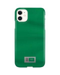 Saudi Arabia Soccer Flag iPhone 11 Lite Case