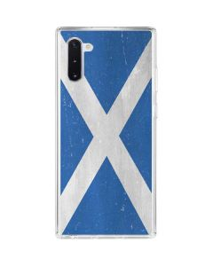 Scotland Flag Distressed Galaxy Note 10 Clear Case