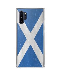 Scotland Flag Distressed Galaxy Note 10 Plus Clear Case