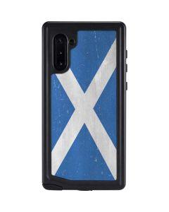 Scotland Flag Distressed Galaxy Note 10 Waterproof Case
