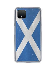 Scotland Flag Distressed Google Pixel 4 XL Clear Case