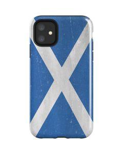 Scotland Flag Distressed iPhone 11 Impact Case