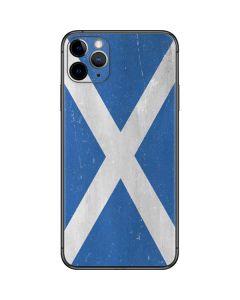 Scotland Flag Distressed iPhone 11 Pro Max Skin