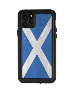 Scotland Flag Distressed iPhone 11 Pro Max Waterproof Case
