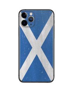 Scotland Flag Distressed iPhone 11 Pro Skin