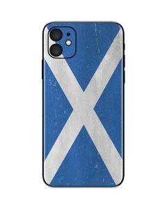 Scotland Flag Distressed iPhone 11 Skin