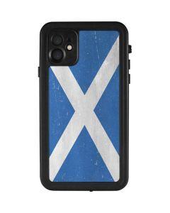 Scotland Flag Distressed iPhone 11 Waterproof Case