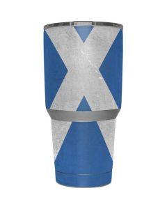 Scotland Flag Distressed Yeti 30z Rambler Tumbler Skin